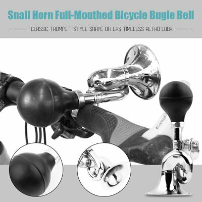 Snail Horn Loud Full-Mouthed Bicycle Cycle Bike Vintage Retro Bugle Bell T MG