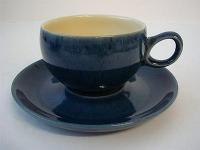 Denby Cottage Blue Cup And Saucer