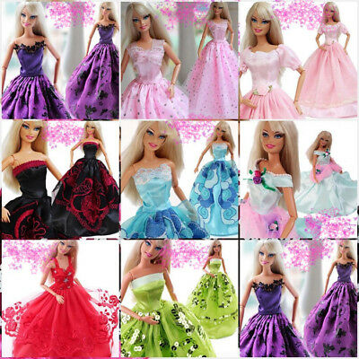 1* Handmade Dress Wedding Party Mini Gown Clothes for 11.8'' Barbie Doll Random
