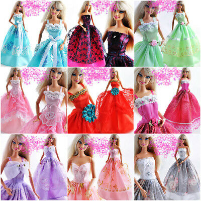 1*Fashion Handmade Party Dress Weeding Clothes Gowns Outfit For Barbie Doll AU