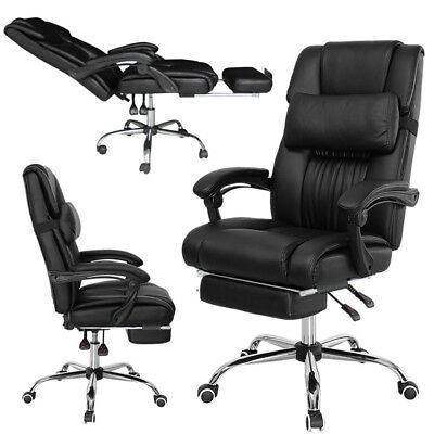 Big &Tall Office Executive Executive Chair Footrest Recliner Racing Game PC Seat
