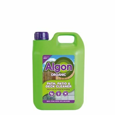 Algon Organic Path Patio & Decking Cleaner Removes Moss Mould Algae 2.5L