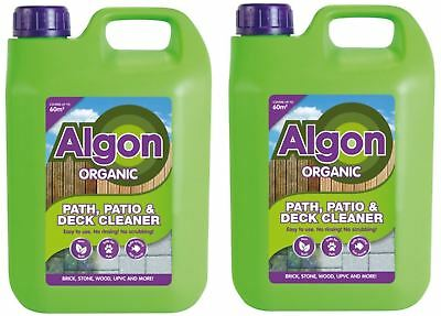 2 x Algon Organic Path Patio & Decking Cleaner Removes Moss Mould Algae 2.5L