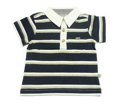 Kanz Boys Short Sleeve Polo Shirt Blue Striped sz. 56 62 68 74 80 86