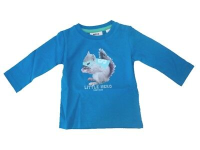 Long Sleeve Boys Baby Shirt Electric Blue Lemonade from Mexx sz. 56 62 68