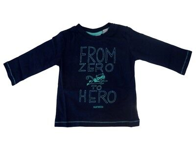 Boys Baby Long Sleeve Shirt Dark Blue Stone sz. 56 from Mexx