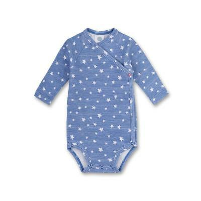 Long Sleeve Baby Body Suit Stars Blue by Sanetta sz. 50 56 62 68