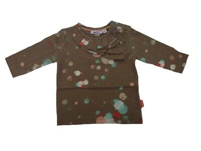 Long Sleeved Shirt with Round Neck Collar Baby Taupe Grau Größe 68 Girl