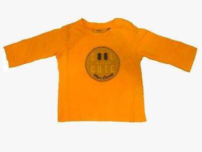 Long Sleeve Boys Baby Shirt Orange Pop Fluorescent sz. 50/56 62/68 74/80 86