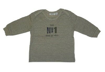 Mexx Boys Baby Long Sleeve Shirt Brown (ivory heather) sz. 56 62 68