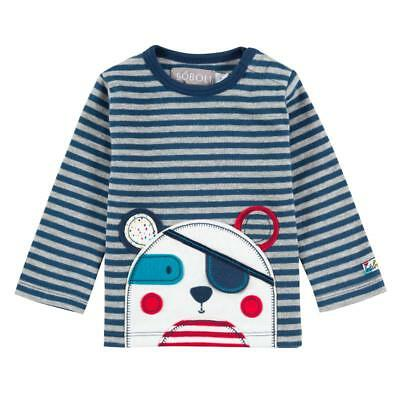 Boy's Long Sleeve Shirt piratenbär gr. 56 62 68 74 80 Von BOBOLI baby shirt