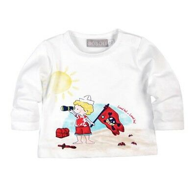 Long Sleeve Baby Shirt for Boys White by Boboli sz. 56 62 68 74 80 86 92