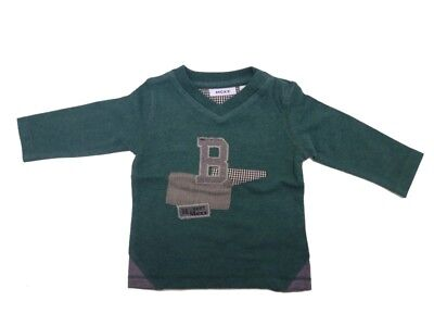 Mexx Long Sleeve Baby Long Sleeve Shirt for Boys Pine Melange sz. 56 62 68