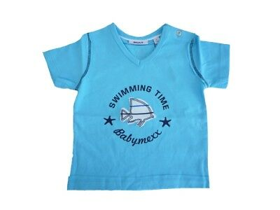 Mexx Boys Baby T-Shirt with Front Print Radiant Blue sz. 56 62 68