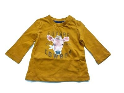 Mexx Boys Baby Long Sleeve Shirt Pumpkin Spice sz. 56 62 68