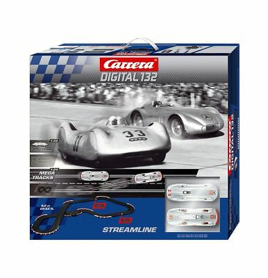 Carrera Railway Digital 132 RACE TRACK STREAMLINE 9M Auto Union Mercedes