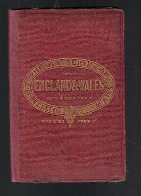 England & Wales Foldout Map Philips Series of Travelling Maps-