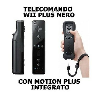 Telecomando compatibile nero WII Remote Plus con Motion Plus integrato + guscio