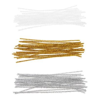24pcs Tinsel Twist Ties Cello Candy Gift Bag Sealing Packing Wedding Party Craft