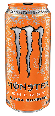 Monster Energy Drinks Low Calorie Ultra Sunrise 16 Ounce Pack of 24 Drinking