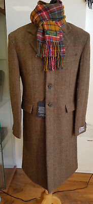 Harris Tweed Cromore Crombie Style Coat Official Stockist Sale £299 4 £199