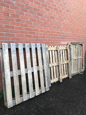 Used UK Wooden PALLETS Bulk sale DIY Garden fence table Recycle Timber various