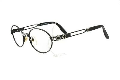 b8ac5bf414b O. MARINES oval round glasses frame black   metal Made in Italy    round