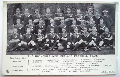 New Zealand Rugby Union Team To The British Isles 1905 – Vintage Postcard