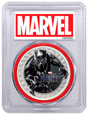 2018 Black Panther 1oz Silver Marvel $1 PCGS PR69 FS Red Gasket SKU52397