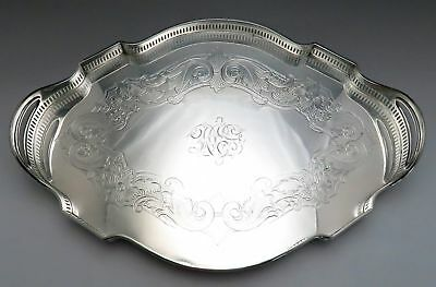 First Quarter 1900's American Silver-plate Hand Engraved Galley Tray