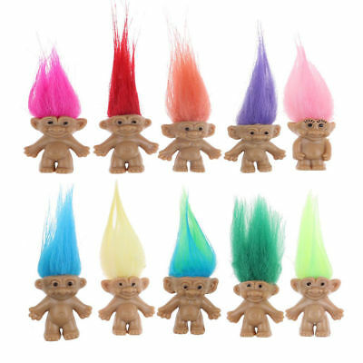 Retro Trolls Doll Lucky Charm Pencil Topper Doll Kids Party Bag Filler Fun Loot