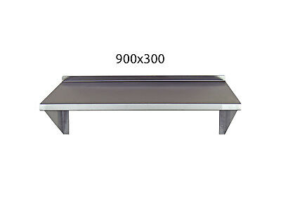 Stainless Steel Shelf 900x300mm Commercial Kitchen Workshops and Stores