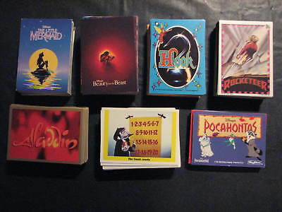 Non Sports Card lot -448 cards all different from 7 sets, Disney theme, Sesame
