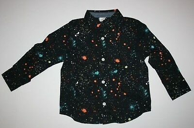 NEW Gymboree Boys Star Wars Dress Top NWT Neon Splatter Shirt 18-24m 2T 3T 4T