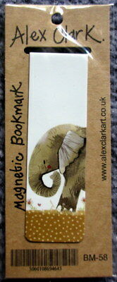 Elephant Small Magnetic bookmark by Alex Clark 8 cm Safari Animal