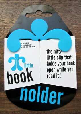 The Little Book Holder Turquoise Blue Plastic Page Holder