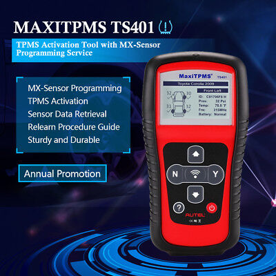 Autel Maxi TPMS TS401 Scanner Auto Tools Diagnostic Tire Sensor Pressure Key NEW