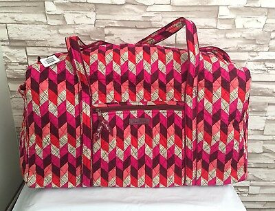 Vera Bradley Large Duffel Bag Bohemian Chevron Luggage Bag NWT