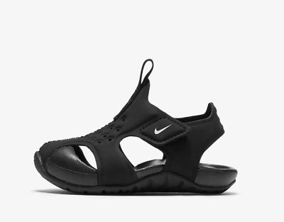 New Nike Baby Sunray Protect 2 Toddler Sandals (943827-001)  Black // White