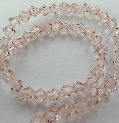500pcs pink glass crystal Bicone loose Spacer bead 6mm