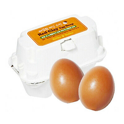 Holika Holika Smooth Egg Skin Red Clay Egg Soap [US Seller]
