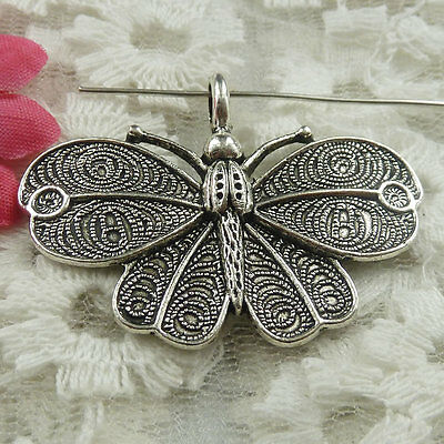 Free Ship 75 pieces Antique silver butterfly pendant 31x20mm #1667