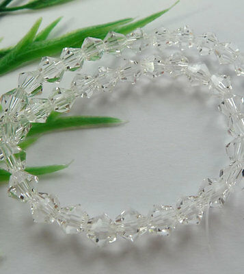 500pcs clear glass crystal Bicone loose Spacer bead 6mm