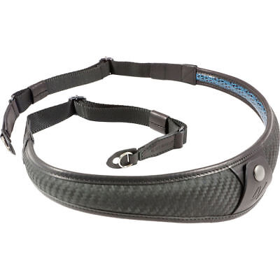 4V Design ALA TOP Leather Ring Fit Camera Neck Strap in Carbon/Black