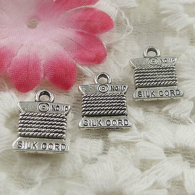 free ship 60 pieces Antique silver cord charms 15x11mm #4382