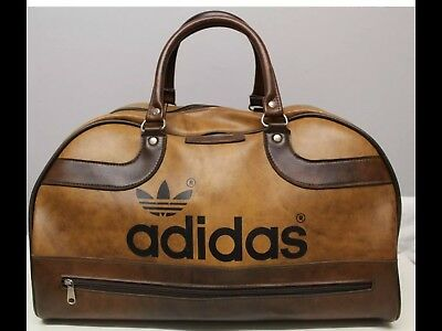 Rare 1970s Vintage Adidas Brown (Peter Black) Keighley Holdall Bag Sack 998b9719cb982
