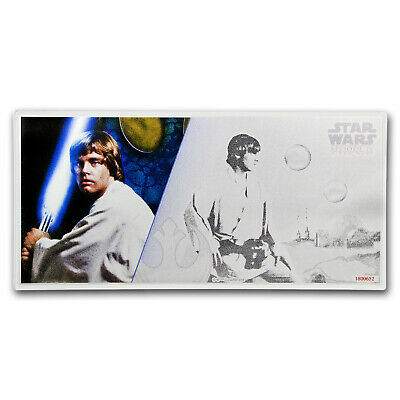 2018 Niue 5 gram Silver $1 Note Star Wars Luke Skywalker w/Album - SKU#161553