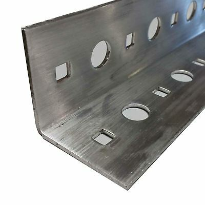 """Punched Slotted Aluminum Angle 2"""" x 2"""" x 12"""" - (.100"""")"""