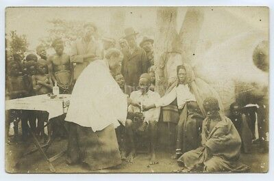 Postcard Of Christian Priest / Missionary In Africa