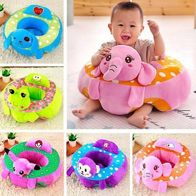 2Pcs Baby Support Seat Learn Sit Soft Chair Cushion Sofa Plush Pillow Toys